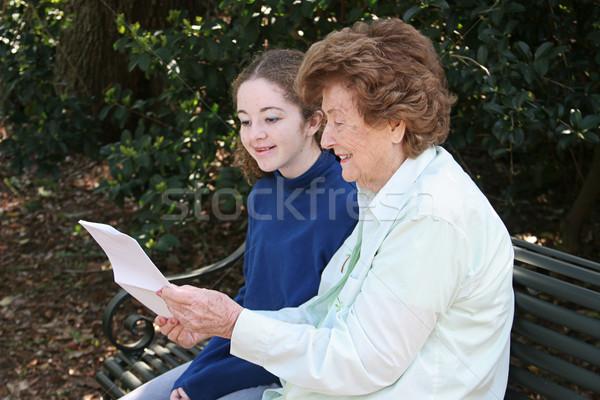 Reading With Grandma Stock photo © lisafx