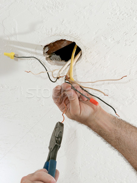 Straightening Electric Wires Stock photo © lisafx