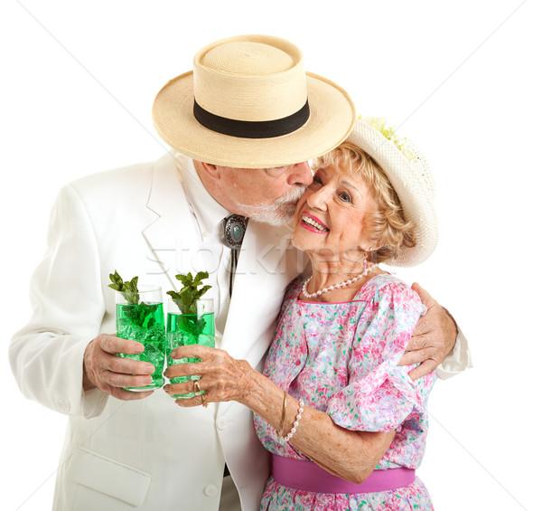 Kentucky Derby - Southern Seniors Kiss Stock photo © lisafx