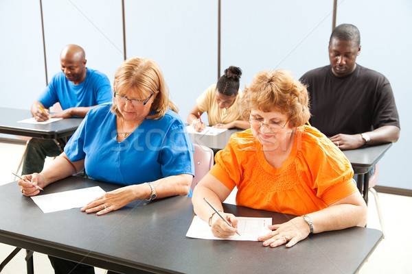 Adult Education Class - Exams Stock photo © lisafx