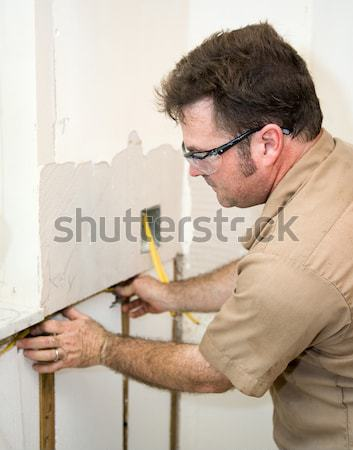 Electrician Wiring Home Stock photo © lisafx