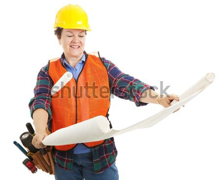 Female Contractor Ready for Work Stock photo © lisafx
