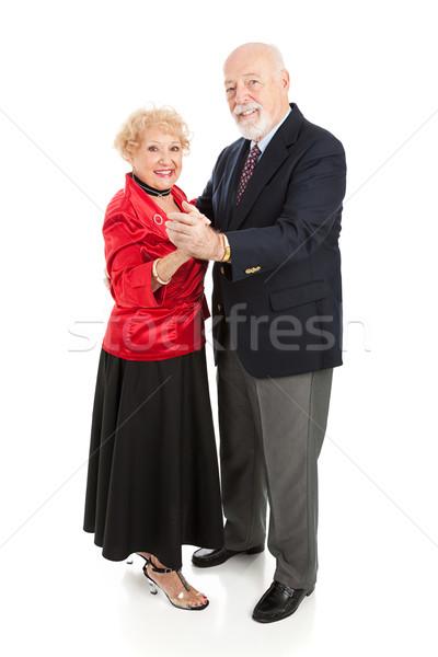 Mutlu dans yaşlılar güzel birlikte Stok fotoğraf © lisafx