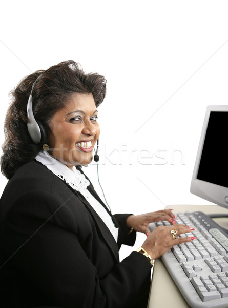 Helpful Indian Tech Support Stock photo © lisafx