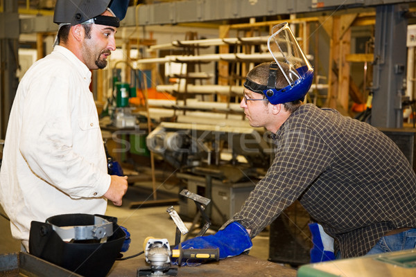 металл работник руководитель завода рабочих проект Сток-фото © lisafx
