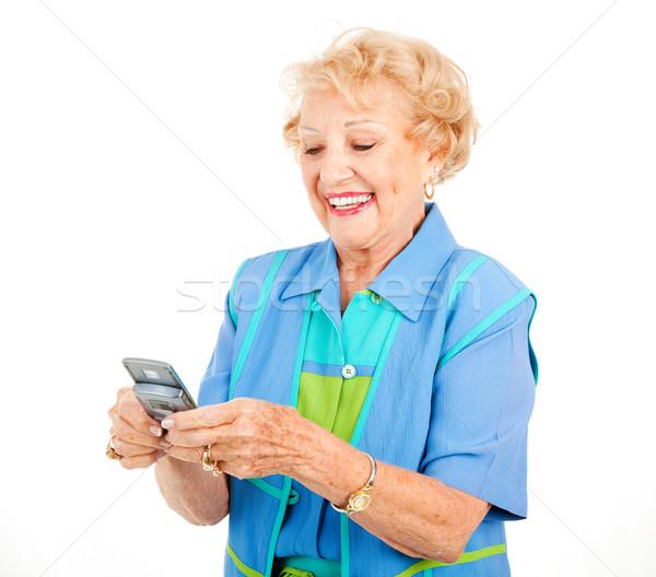 Senior Woman - Texting Fun Stock photo © lisafx