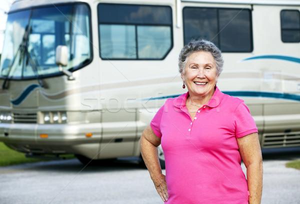 Senior Woman with Motor Home Stock photo © lisafx