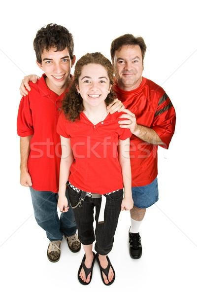 Adolescentes papá rojo adolescente Pareja ninas Foto stock © lisafx