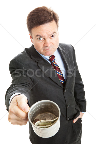 Businessman Begging for Change Stock photo © lisafx