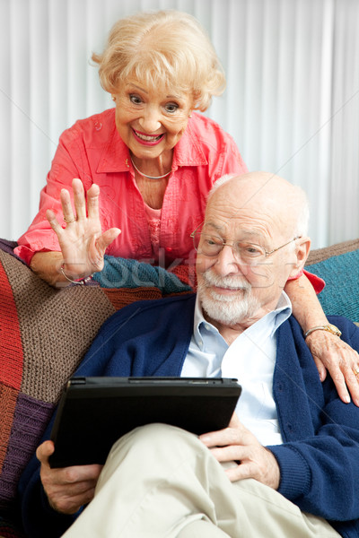 Video Chat with the Grandkids Stock photo © lisafx