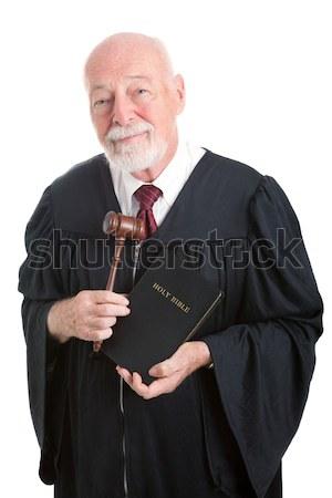 Angry Judge Bangs Gavel Stock photo © lisafx