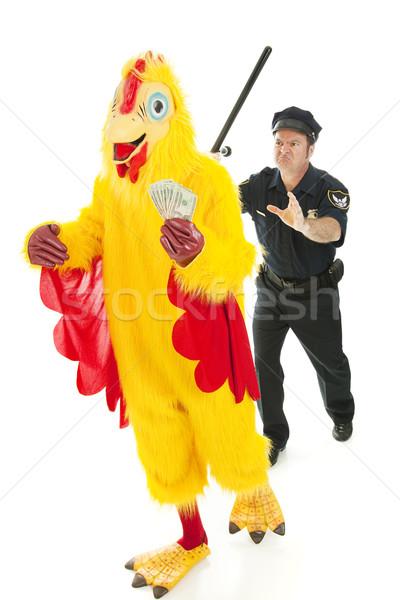 Chicken Man on the Lam Stock photo © lisafx