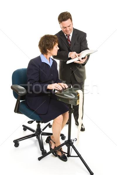 Sąd reporter adwokat prawnik przypadku wraz Zdjęcia stock © lisafx