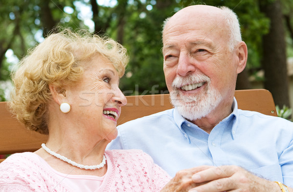 Senior Couple - Love and Laughter Stock photo © lisafx