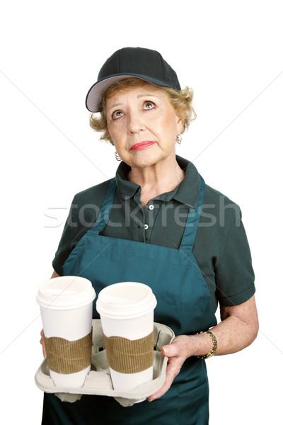 シニア ワーカー 私に 女性 作業 サービス ストックフォト © lisafx
