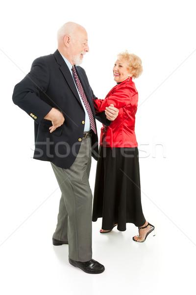 Yaşlılar kare dans mutlu muhteşem Stok fotoğraf © lisafx