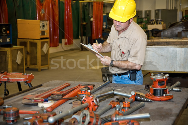Stockfoto: Inventaris · revisor · tools · industriële · fabriek