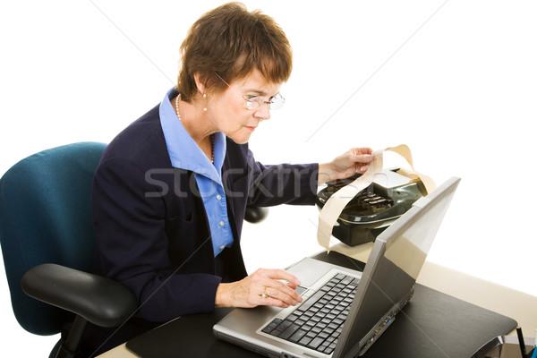 Typing Court Transcript Stock photo © lisafx