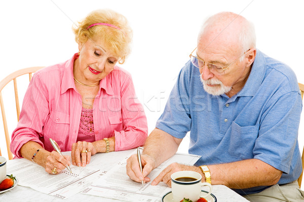 Stock photo: Voting - Seniors Mark Ballots