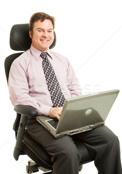 Working in Ergonomic Chair Stock photo © lisafx