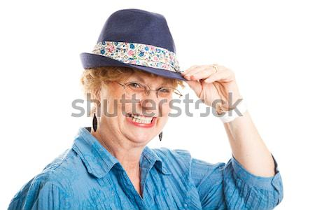 Cute Flirty Middle-Aged Woman Stock photo © lisafx