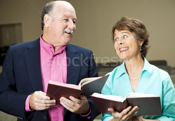 Singing From Hymnal Stock photo © lisafx