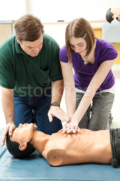 подростка девушка манекен учителя помочь Сток-фото © lisafx