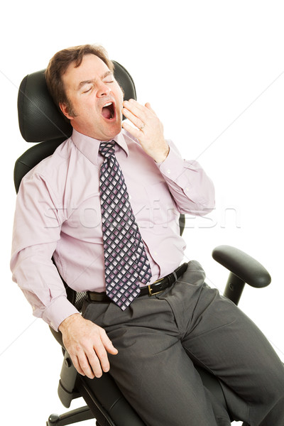 Bored Sleepy Businessman Stock photo © lisafx