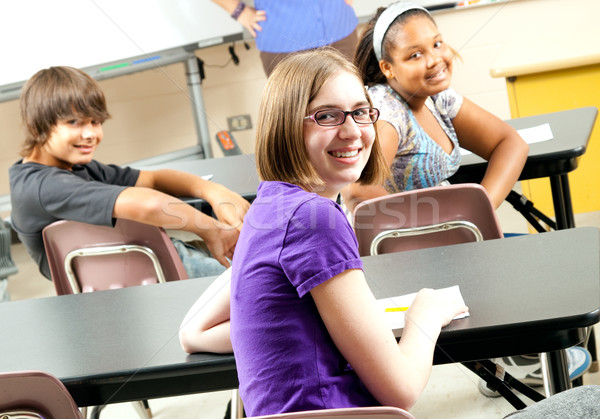 Stock Photo  of Happy School Students Stock photo © lisafx