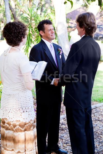 однополые браки гей пару свадьба молодые Сток-фото © lisafx