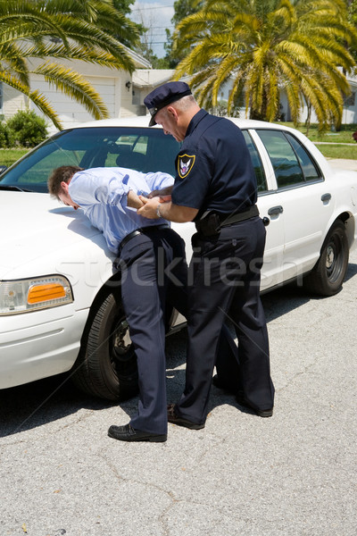 Stock photo: Arresting Drunk Driver