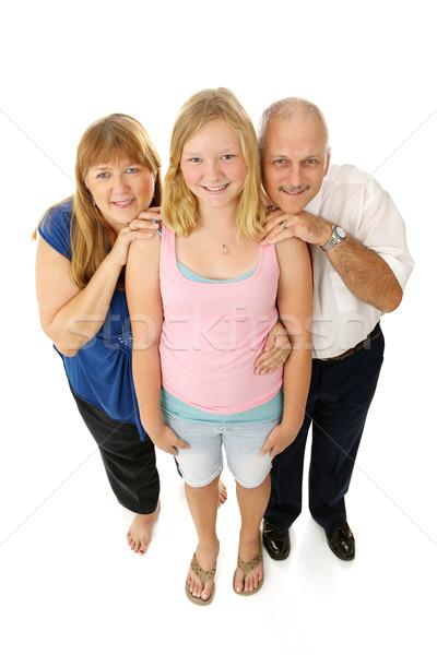 Blond Blue Eyed Family Full Body Stock photo © lisafx