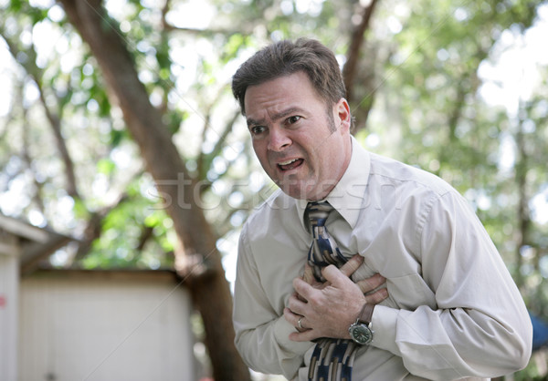 Chest Pain Outdoors Stock photo © lisafx