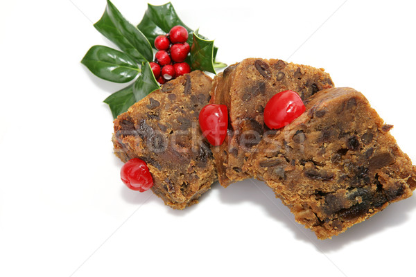 Fruitcake Slices Isolated Stock photo © lisafx