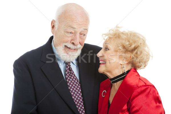 ünnep idősek tudomás néz gyönyörű idős pár Stock fotó © lisafx