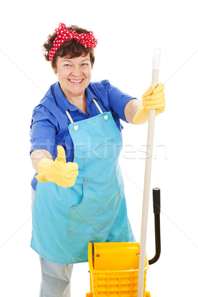 Maid Gives Thumbs Up for Cleanliness Stock photo © lisafx