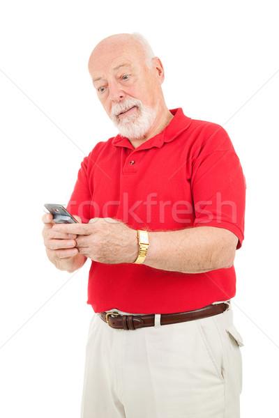 Senior Man - Texting Frustration Stock photo © lisafx