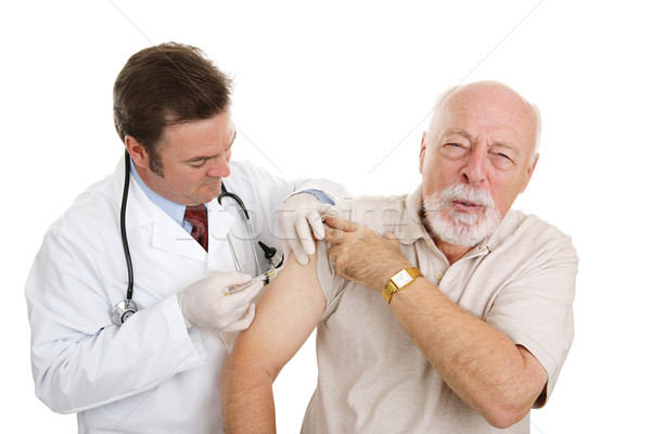 Stock photo: Senior Medical - That Stings