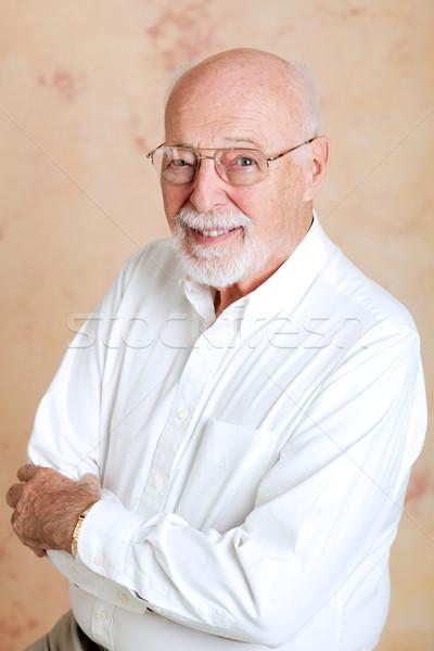 Portré intelligens idős férfi jóképű üzlet Stock fotó © lisafx