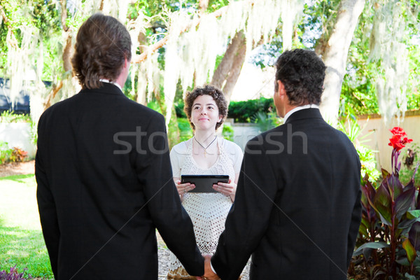 Young Female Minister Marries Gay Couple Stock photo © lisafx