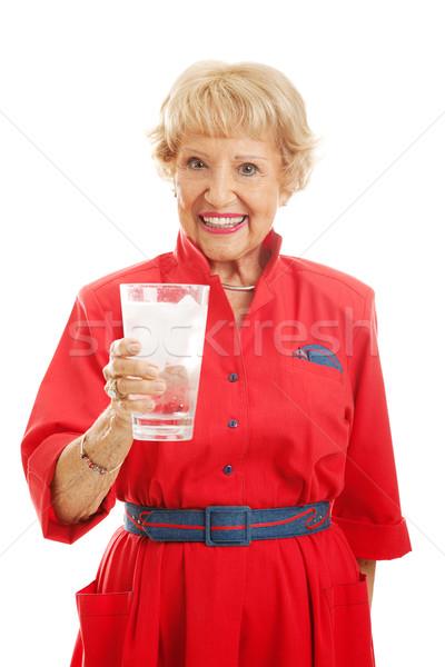 Senior Lady Drinks Water Stock photo © lisafx