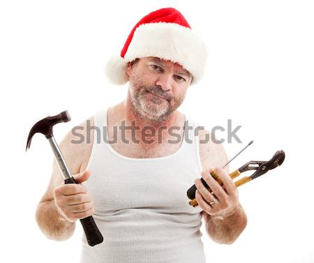 Noël moi fou humoristique photo homme Photo stock © lisafx