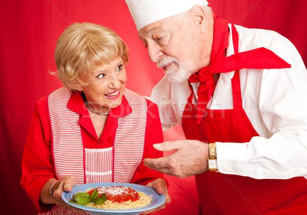 Grandmas Cooking Lesson Stock photo © lisafx