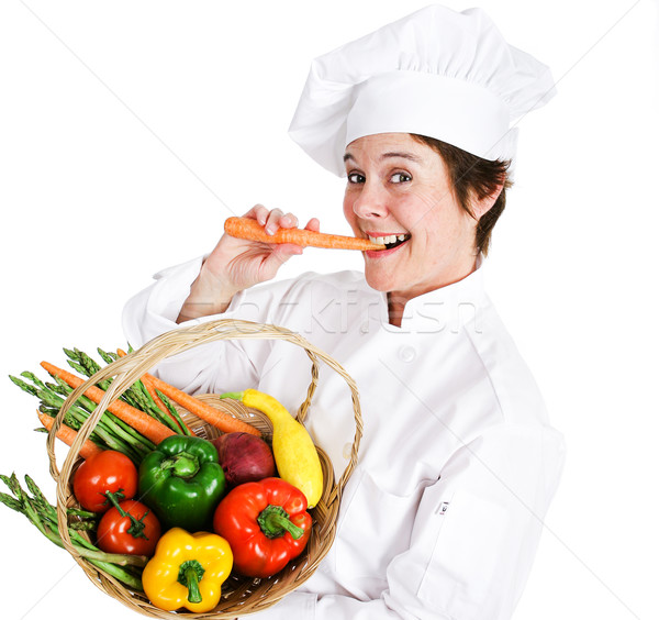 Chef Eats Healthy Stock photo © lisafx