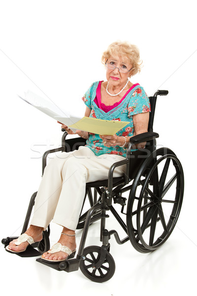 Disabled Senior - Medical Bills Stock photo © lisafx