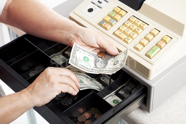 Cash Register Drawer Horizontal Stock photo © lisafx