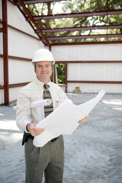 Construction Inspector with Blueprints Stock photo © lisafx
