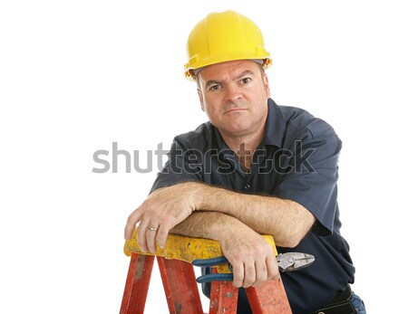 Construction Worker Disgruntled Stock photo © lisafx