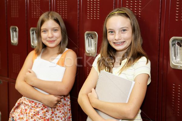 Cute School Girls Stock photo © lisafx