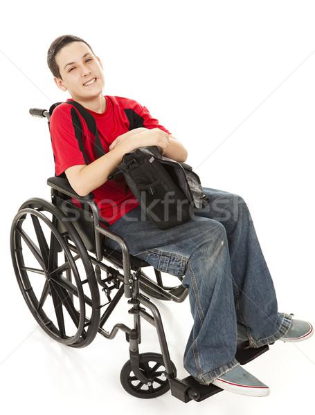 Disabled Teen Boy Full Body Stock photo © lisafx